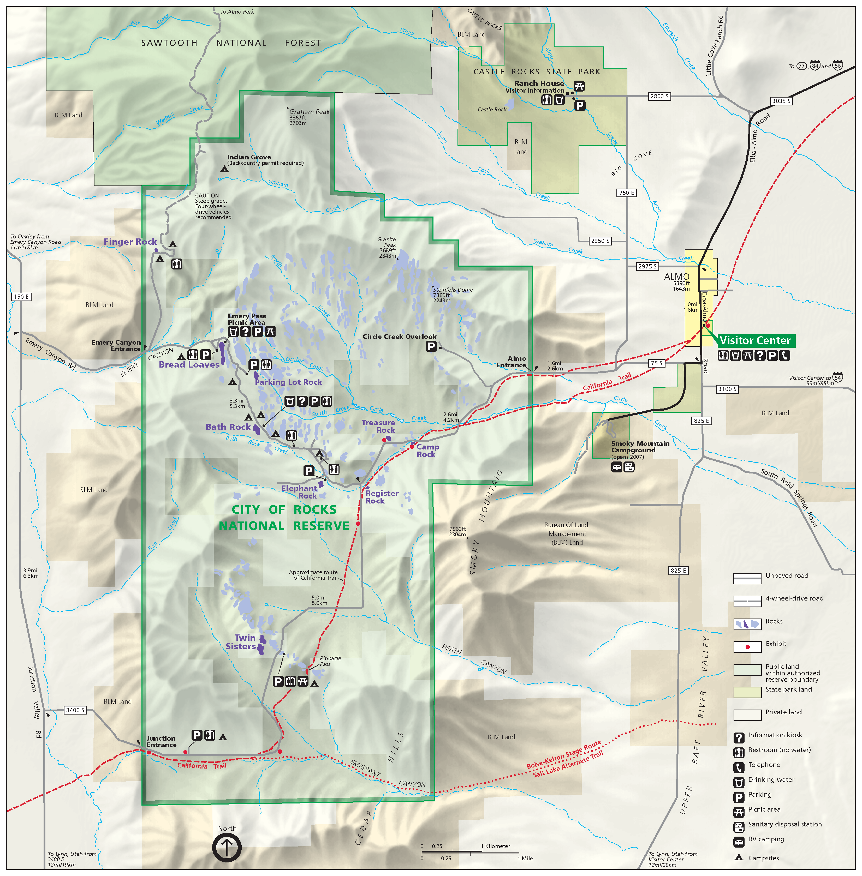 File:City of Rocks National Reserve map 2006.07.png   Wikimedia