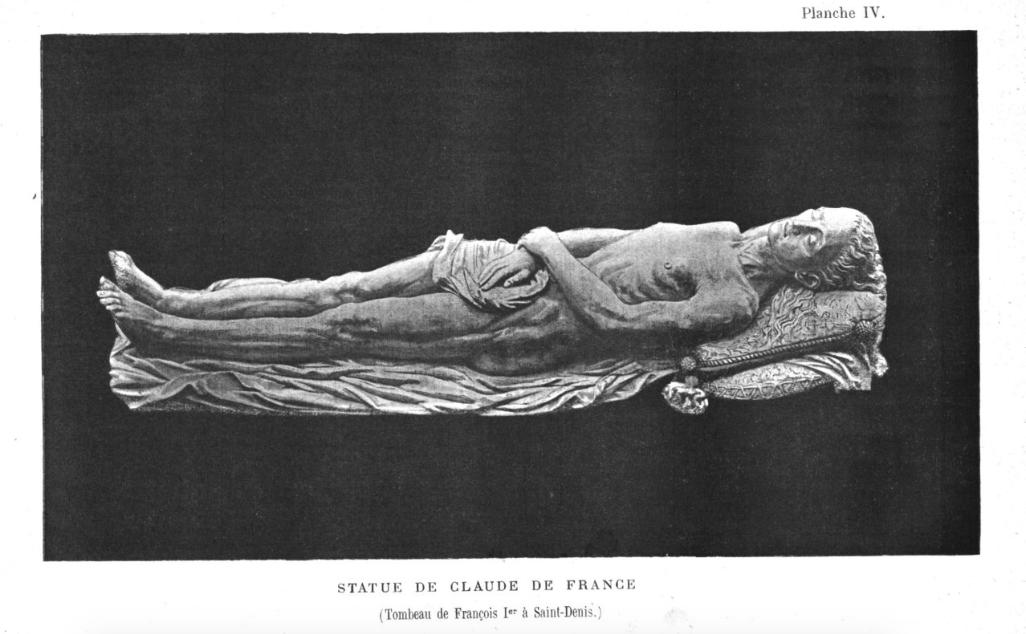 Клод Французская - изображение на гробнице.