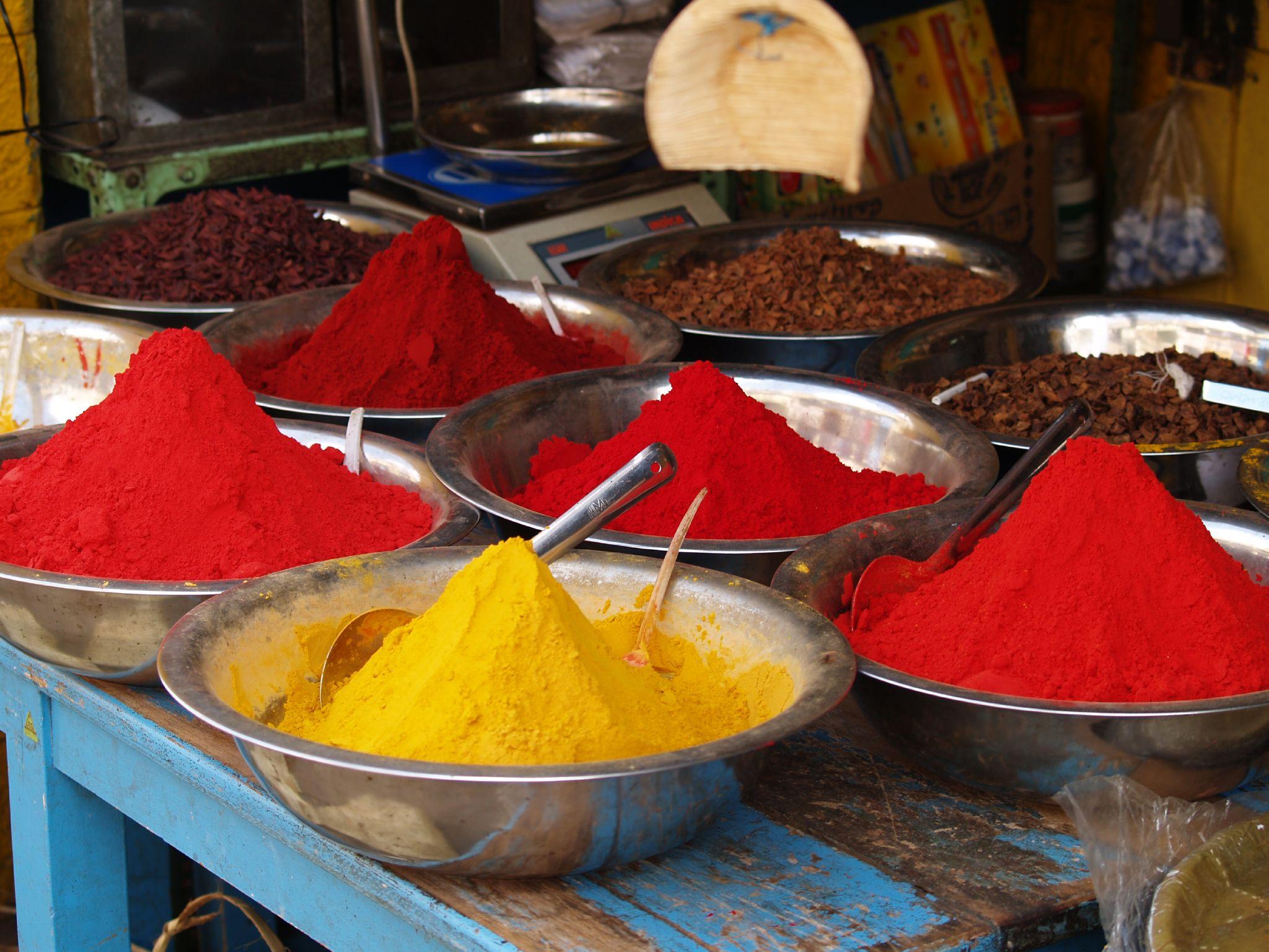 File colourful spices in wikimedia commons - Telas de la india online ...