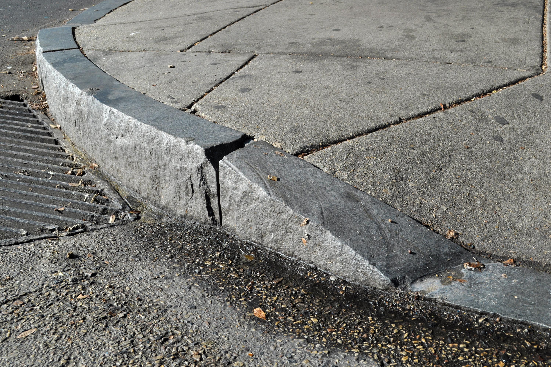 granite curb cut