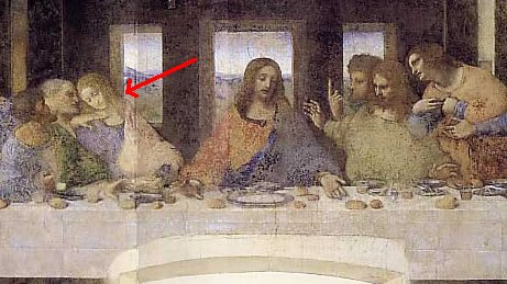 File:Da Vinci The last supper detail Da Vinci code.jpg ...