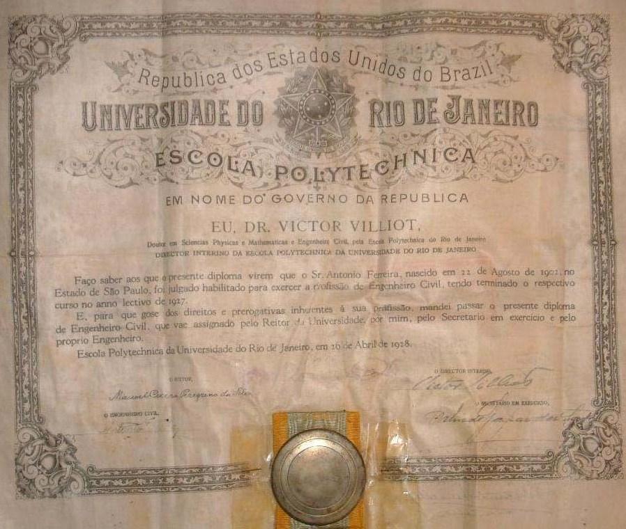 file diploma da escola polytechnica da universidade do rio de  file diploma da escola polytechnica da universidade do rio de janeiro em 1928 jpg