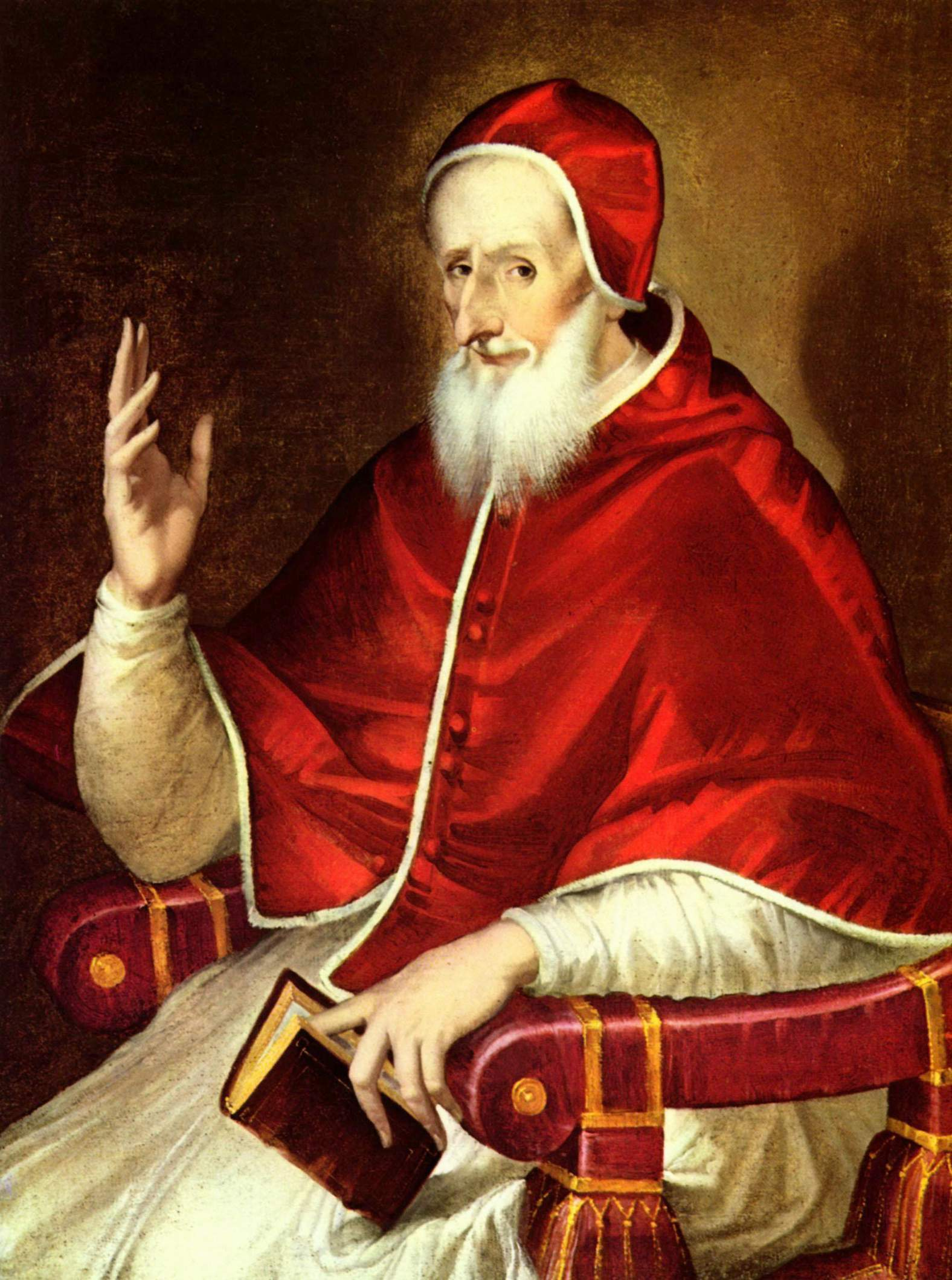 Portrait of Pope Pius V, El Greco (1541-1614).