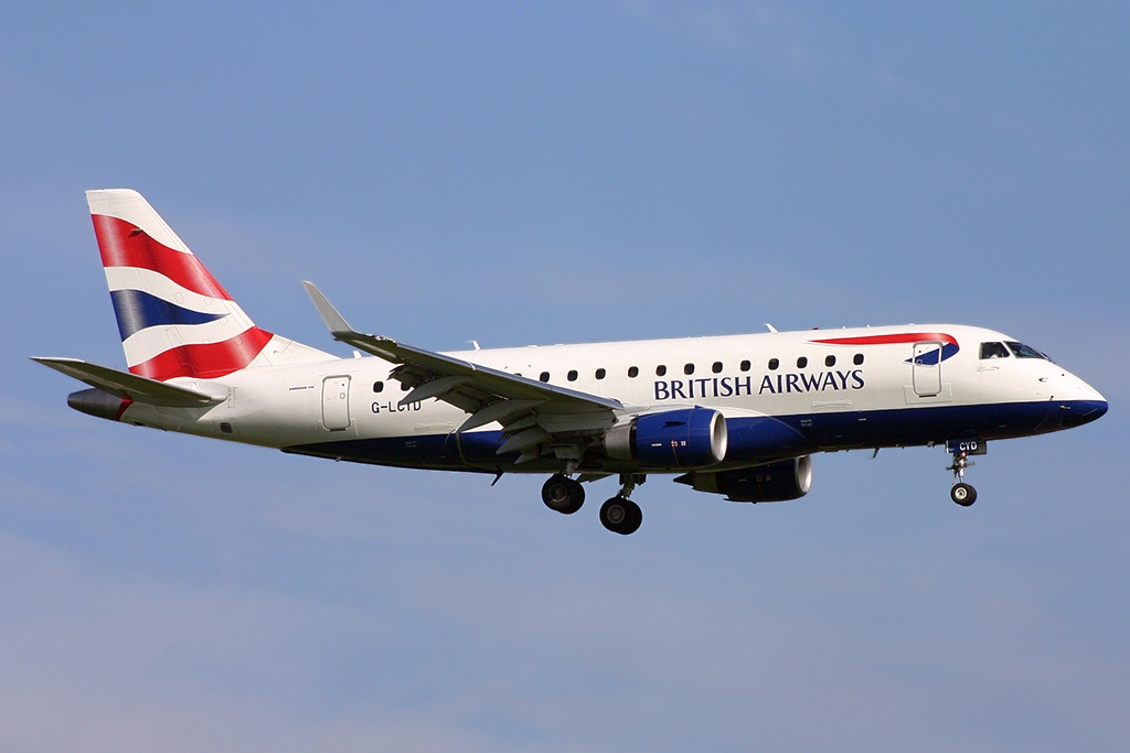 ba cityflyer 170 embraer british airways london erj airlines destinations 100std flights adds manchester wikipedia restarts operations travelupdate