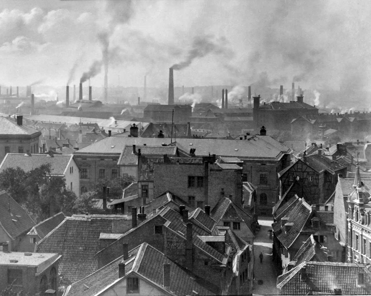 Fábricas de Krupp en Essen, ca. 1890.
