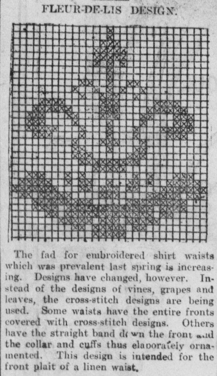 Cross Stitch Alphabet Charts: Fleur-de-lis design (cross-stitch pattern).jpg - Wikimedia ,Chart