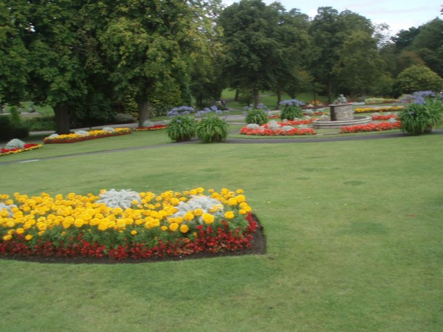 Flowerbeds in the Valley Gardens - geograph.org.uk - 1467777