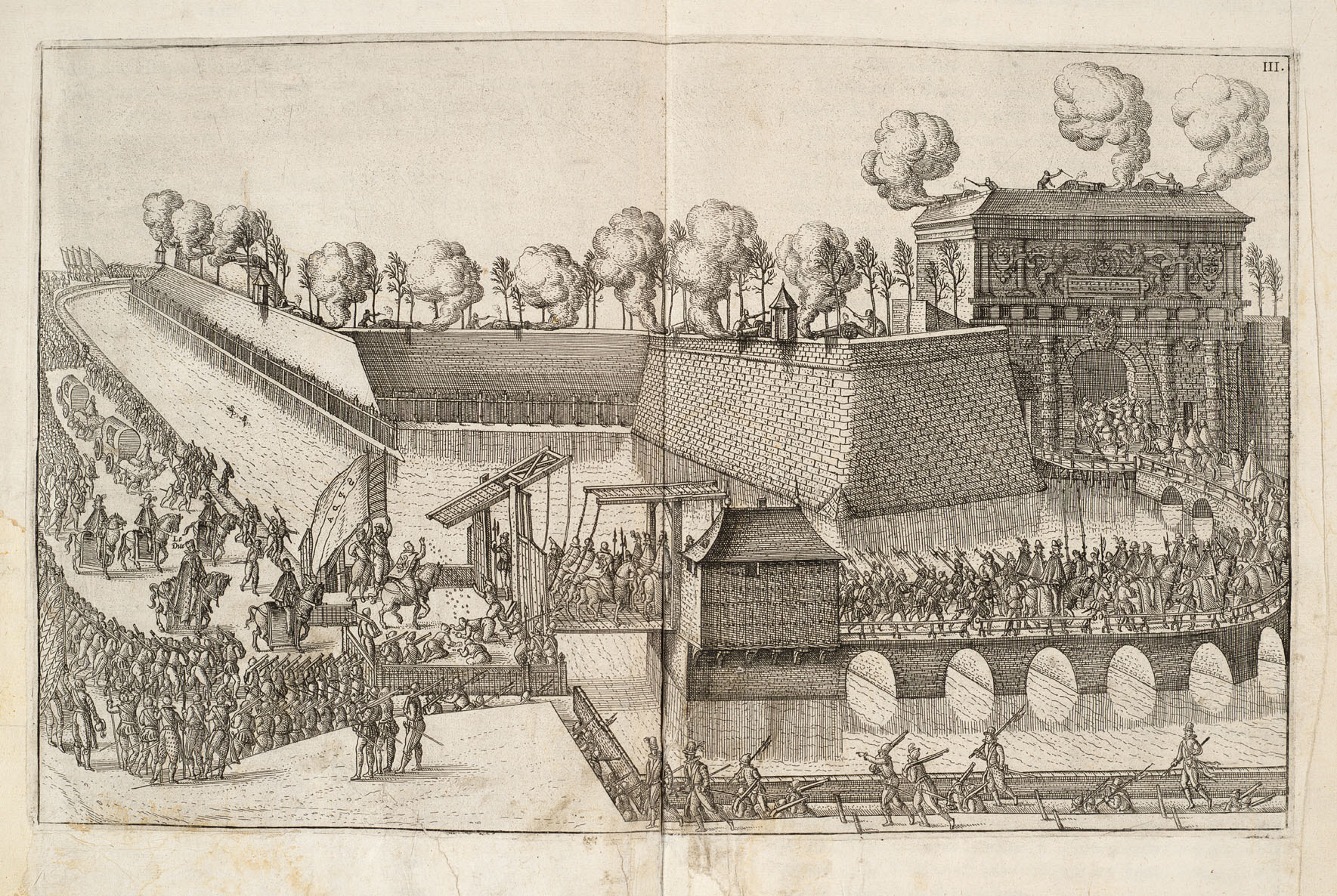 File:François, Duc dAnjou, entering Antwerp (1582) Canon fire welcoming  François