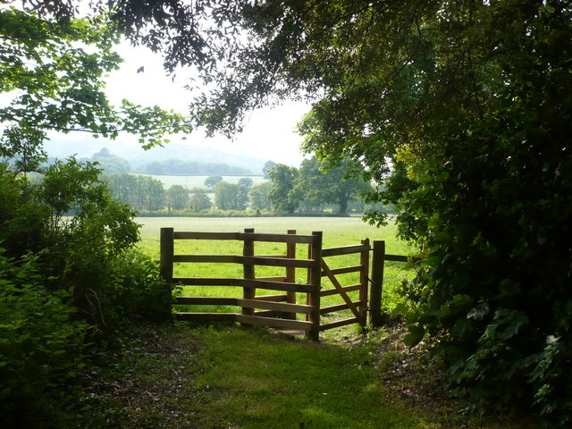 Gate to the public footpath from Holnicote to West Luccombe - geograph.org.uk - 821369