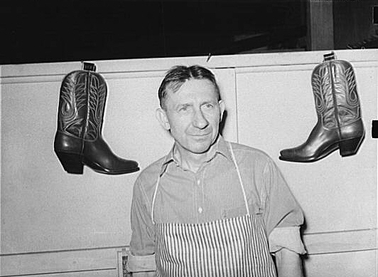 Owner of the bootmaking establishment, Alpine, Texas. He is a naturalized American from Germany.