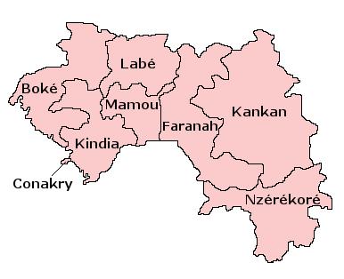 Pembagian wilayah administratif Guinea