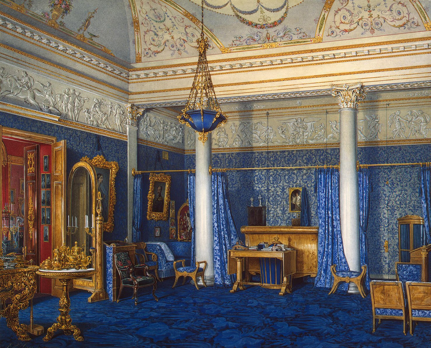 File:Hau. Interiors of the Winter Palace. The Bedchamber ...