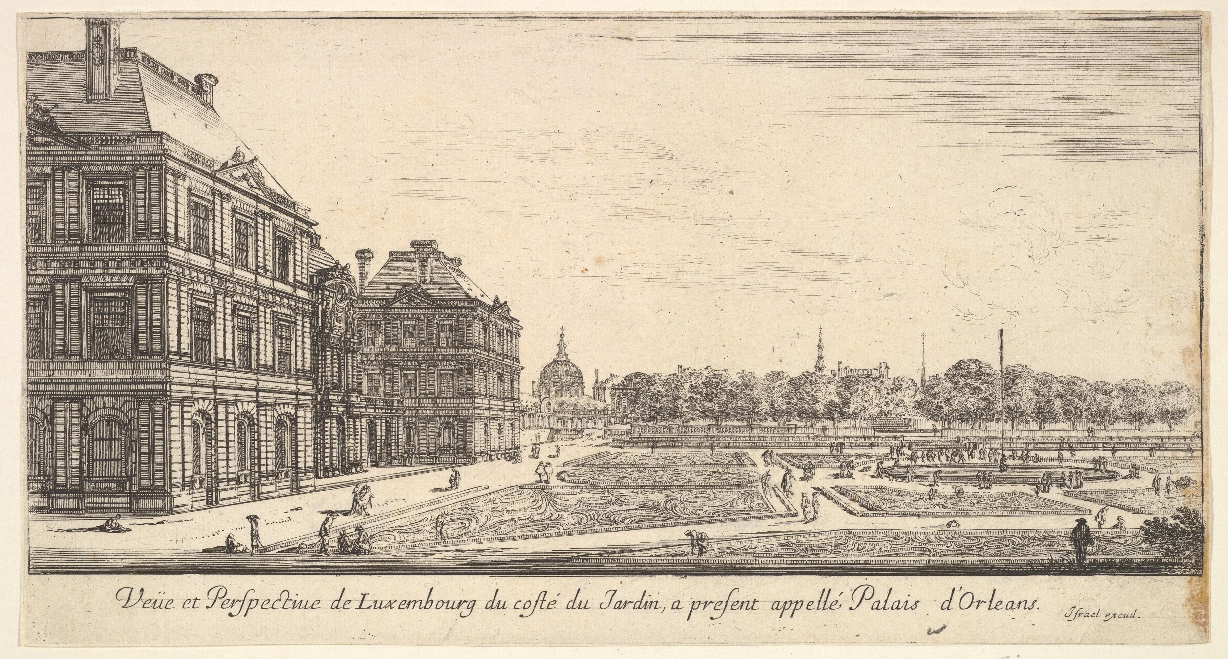 The Luxembourg Palace and gardens. They were built by Marie de' Medici to recall her native Florence.