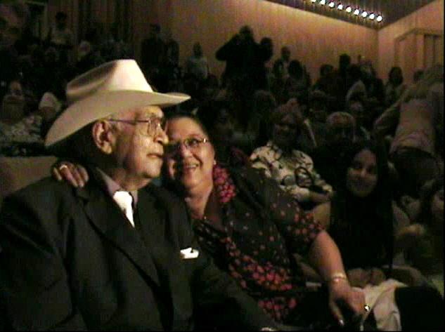 Juan Vicente Torrealba y su esposa, en un tributo a su carrera artística, 10 de mayo de 2007.