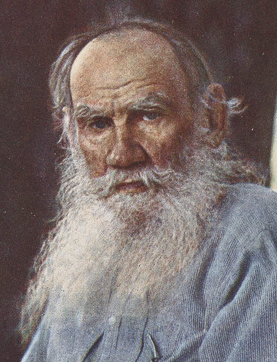 """Tolstoy on 23 May 1908 at [[Yasnaya Polyana]],<ref>""""[http://www.tolstoy-studies-journal.com/tolstoy-in-color Tolstoy in Color],"""" ''Tolstoy Studies Journal,'' a publication of the Tolstoy Society of North America, n.d. Retrieved 27 June 2018.</ref> photo by [[Sergey Prokudin-Gorsky]]"""