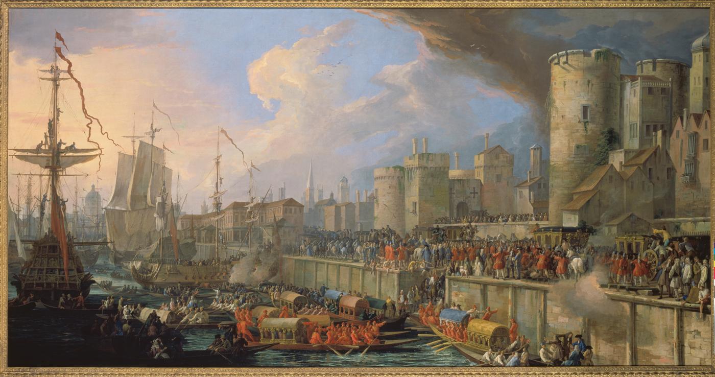 Файл:Luca Carlevarijs - Einzug der venezianischen Gesandten in London 1707  - Schleißheim.jpg
