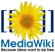 Media Wiki logo and motto.