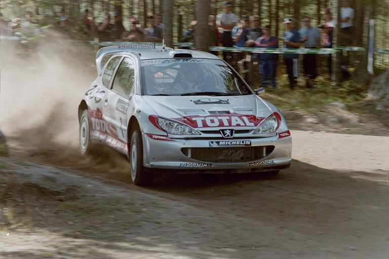 Peugeot 206 WRC, winner of the World Rally Championship from 2000 to 2002