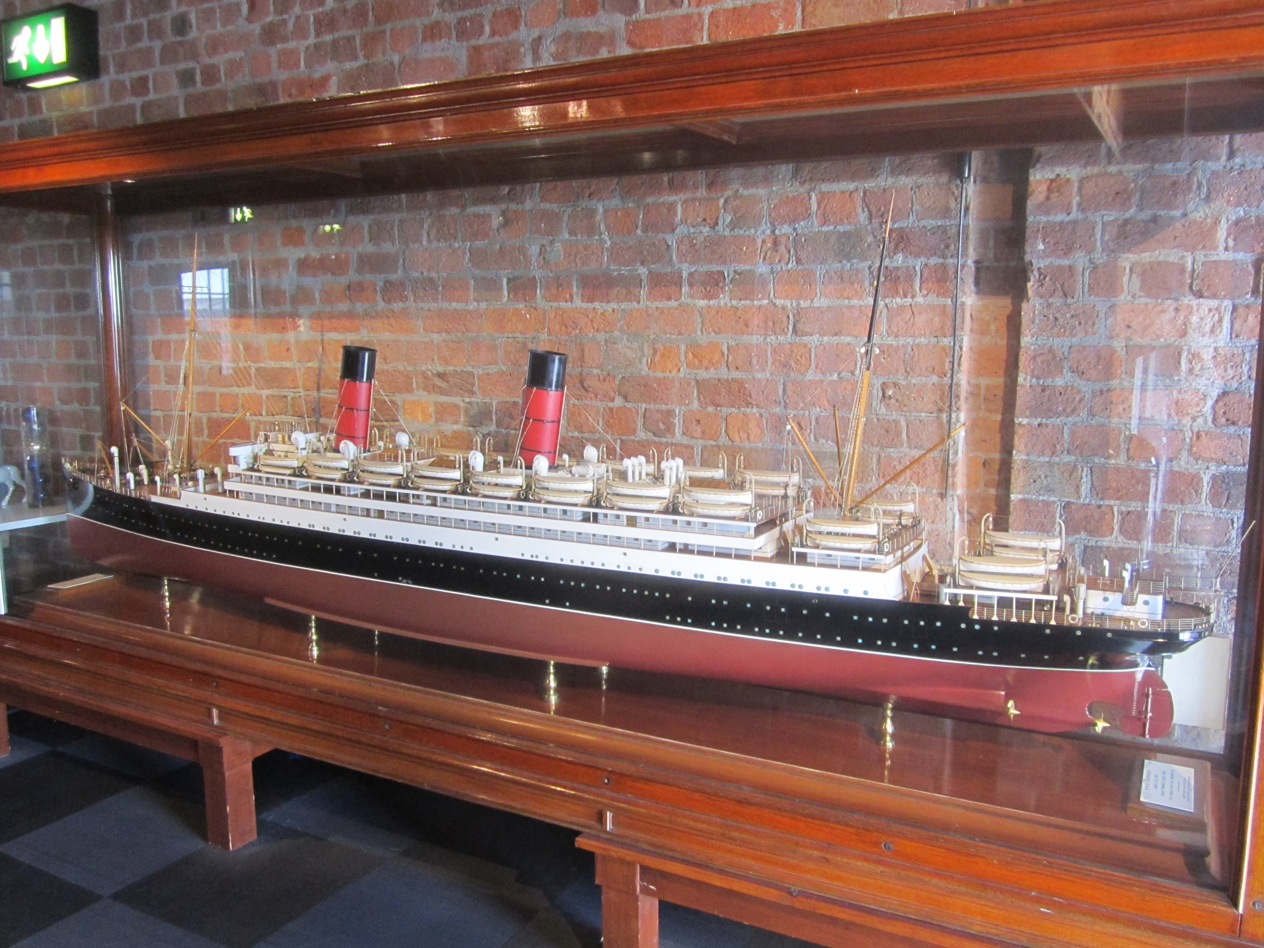 A model ship display at the Maritime museum