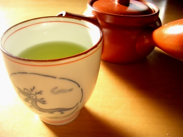 Morning cup of green tea
