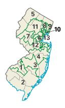 New Jersey districts in these elections