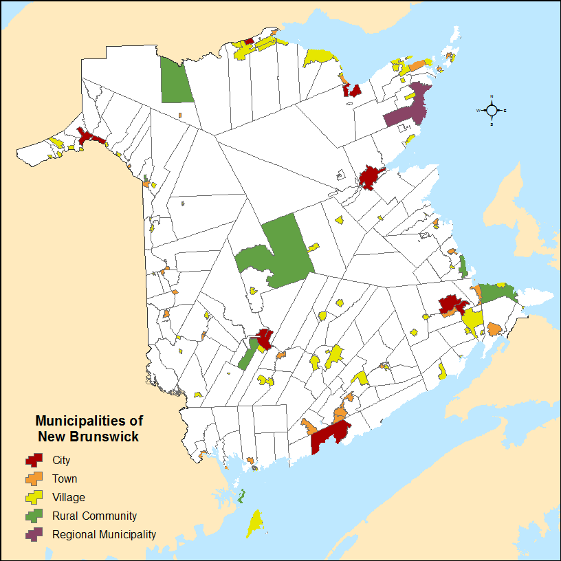 Map of NB localities