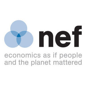 English: New Economics Foundation logo and slogan