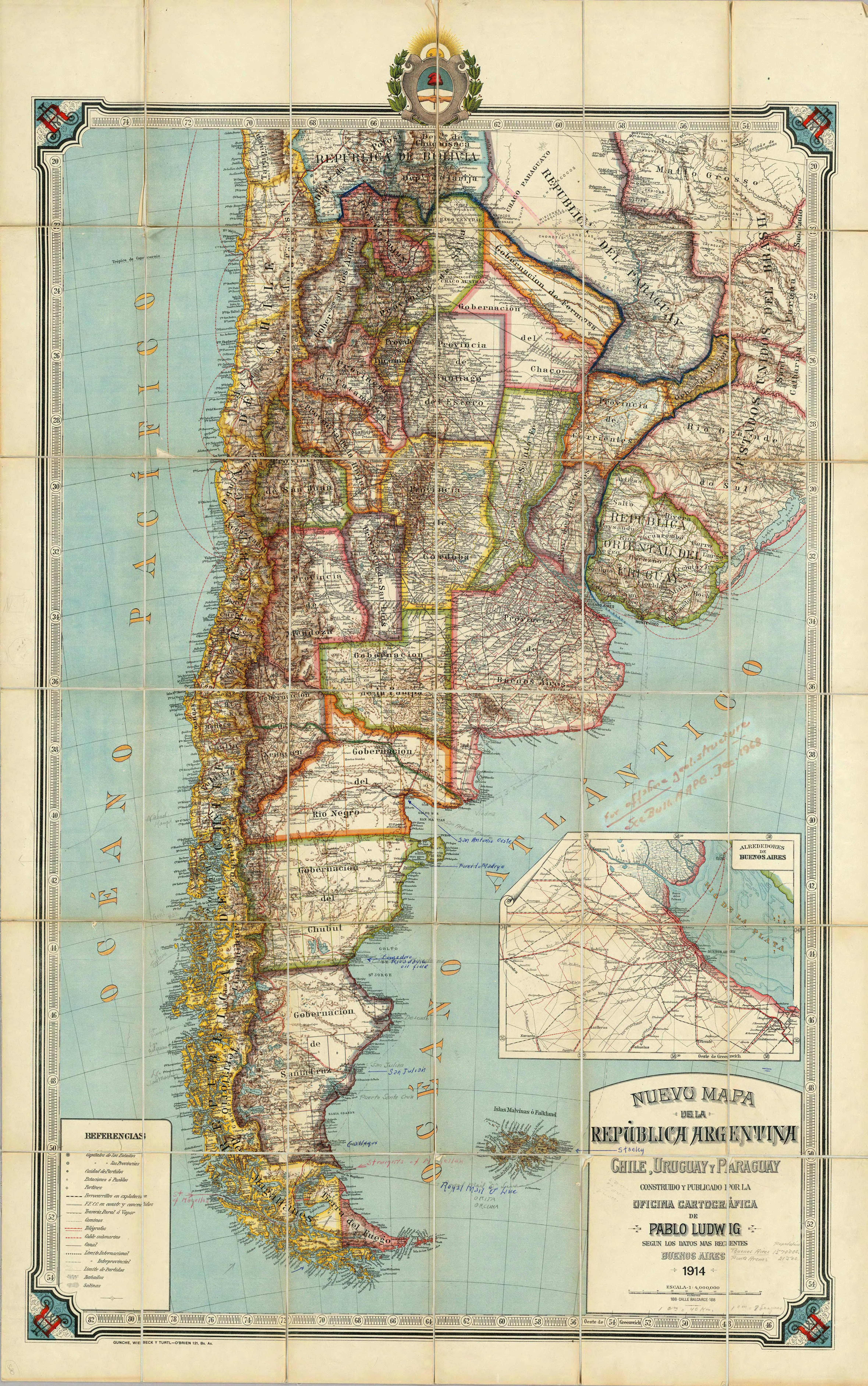 Argentina Historical Map - Argentina map vintage