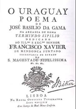 """""""O Uraguai"""" (grafia atual) é a obra-prima de Basílio da Gama."""