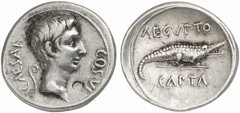 Risultati immagini per monete augusto
