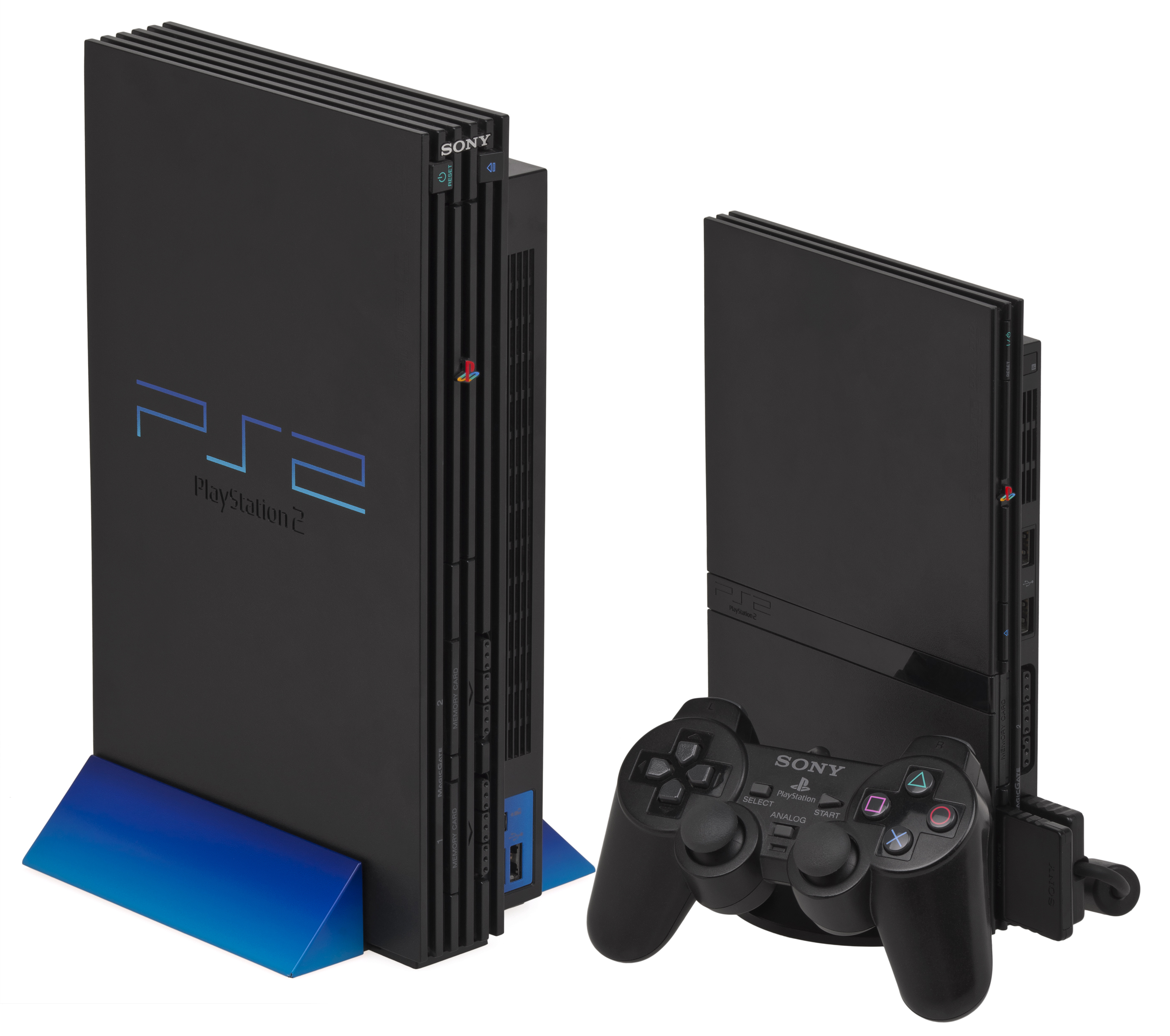 sony playstation 2 slim. ps2-versions.jpg sony playstation 2 slim
