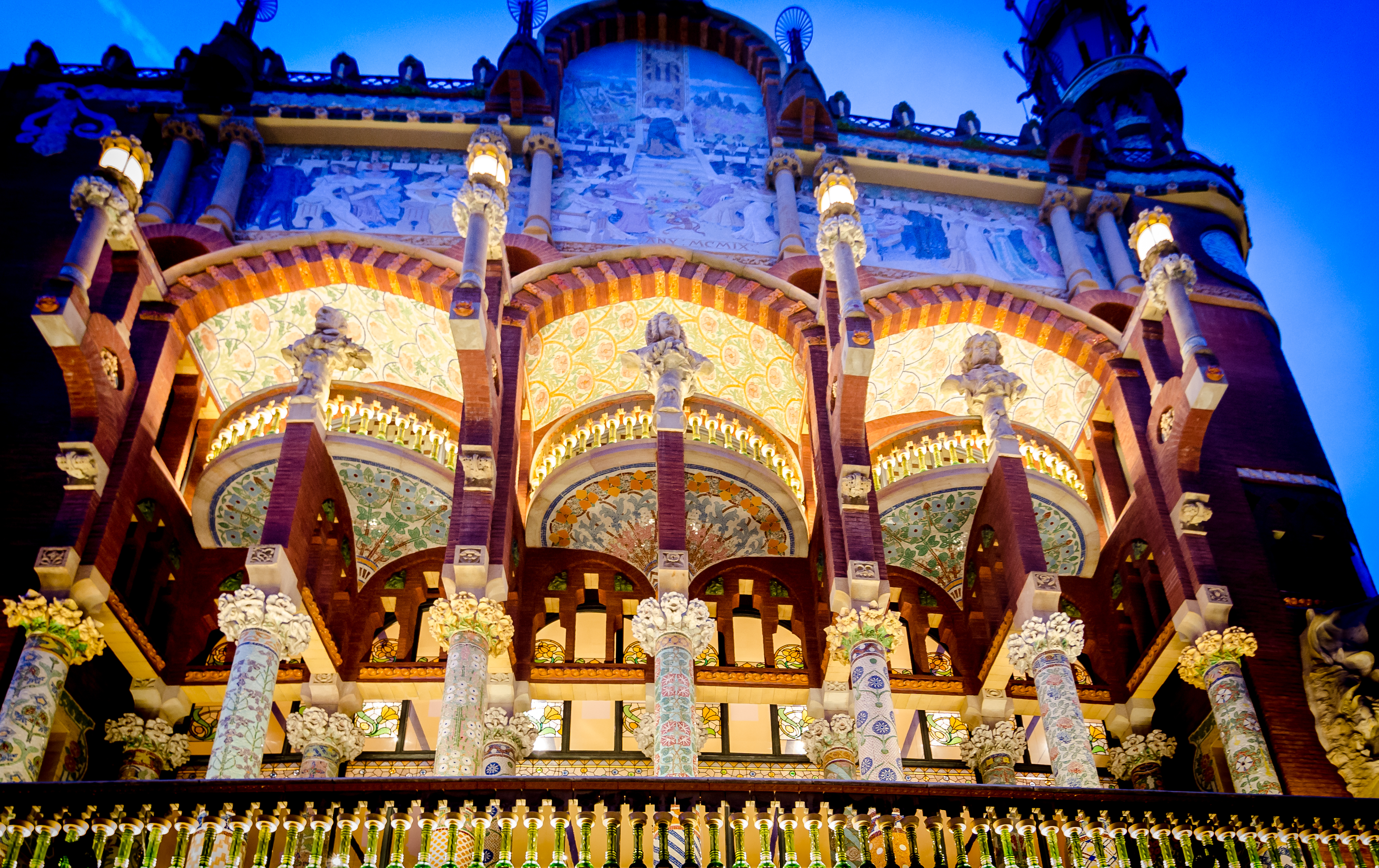 File:Palau de la Música Catalana at night - DS4 8757.jpg ...