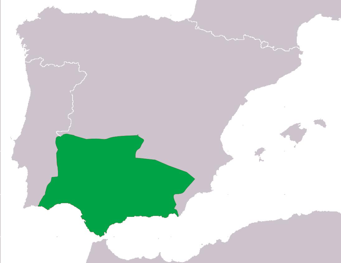 Area di diffusione del Pelodytes ibericus