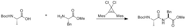 Peptide catalysis by cyclopropenium ions