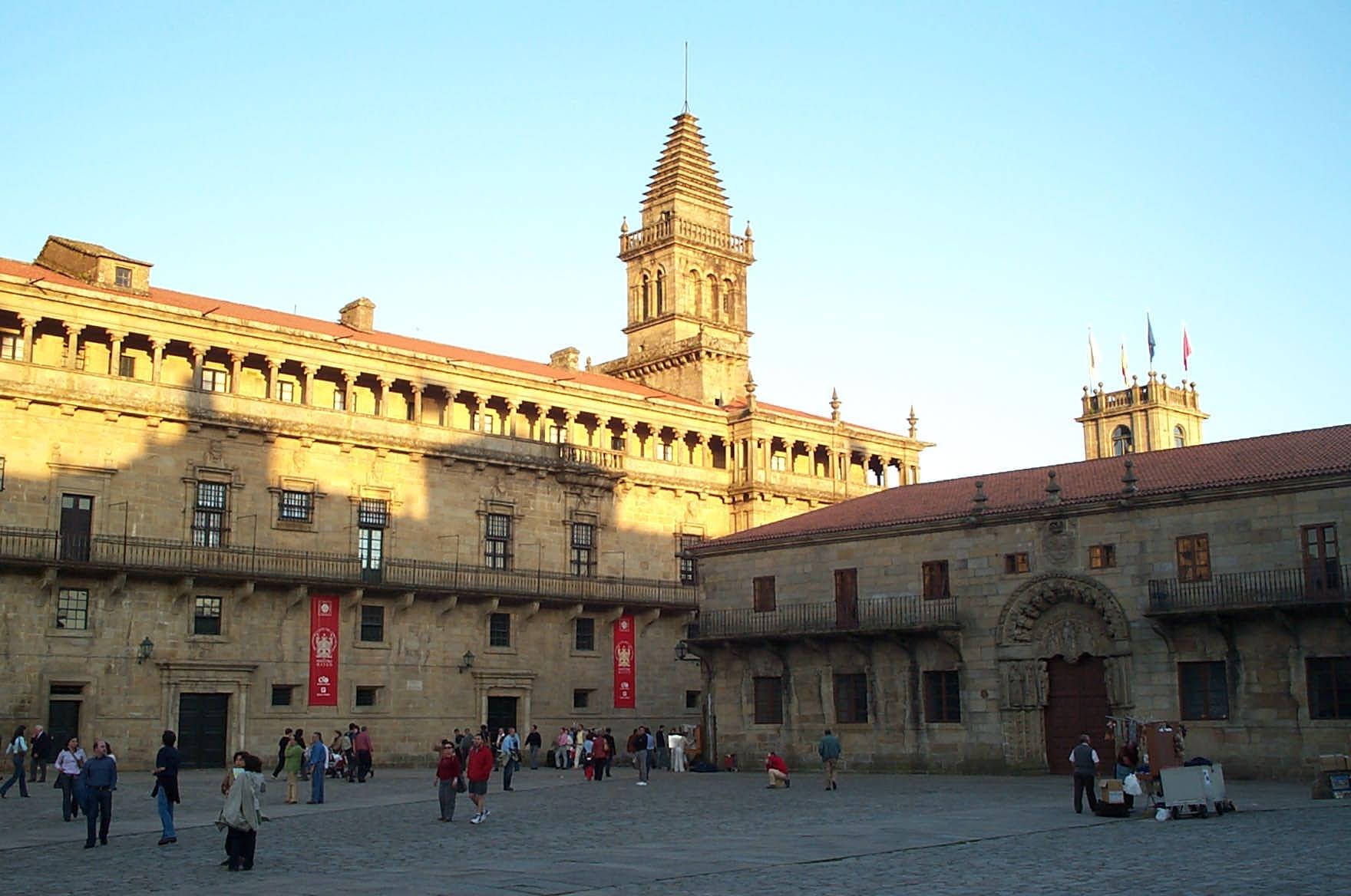 Ficheiro:Praza do Obradoiro en Santiago de Compostela.jpg - Wikipedia, a enci...