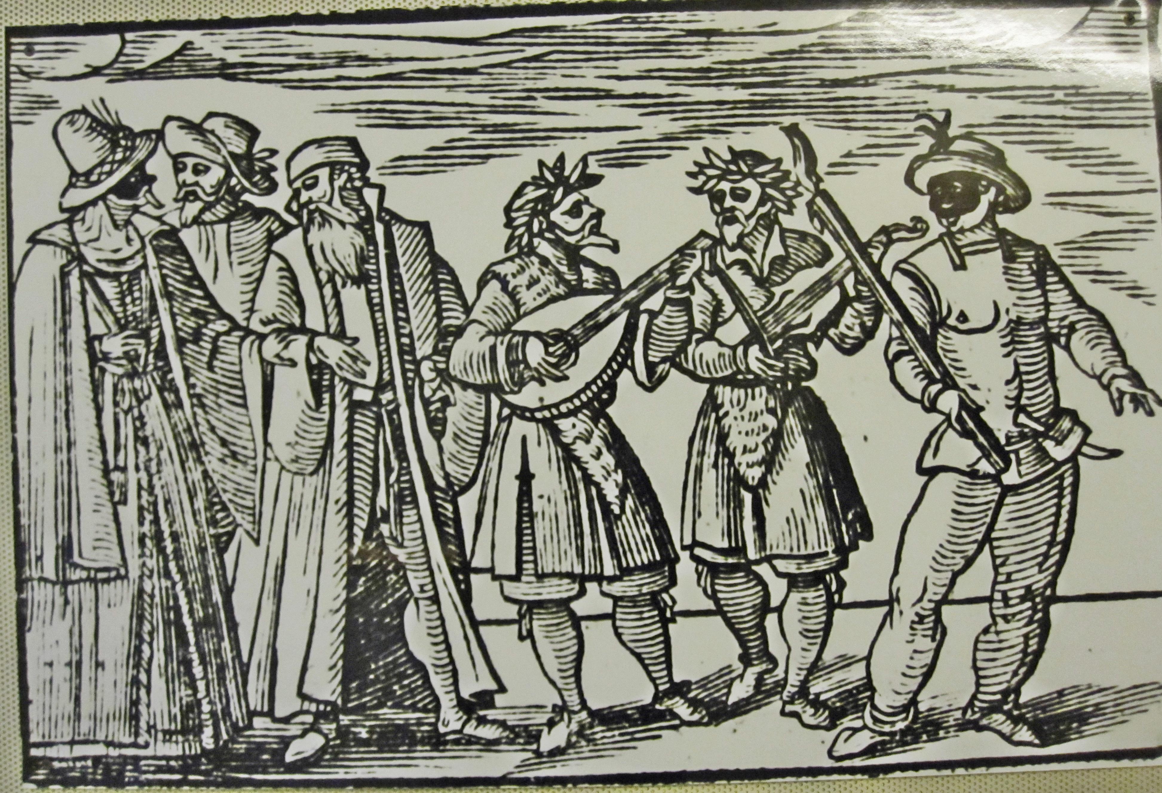 Purim, xilografía de Sefer Minhagim (Libro de Costumbres) Venecia, Italia 1741.