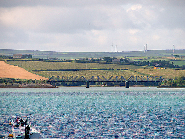 Railway bridge across Little Petherick Creek - geograph.org.uk - 484820