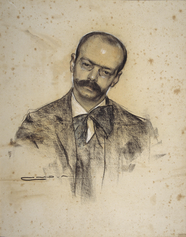 Gabriel Alomar, visto por Ramón Casas (Museo Nacional de Arte de Cataluña