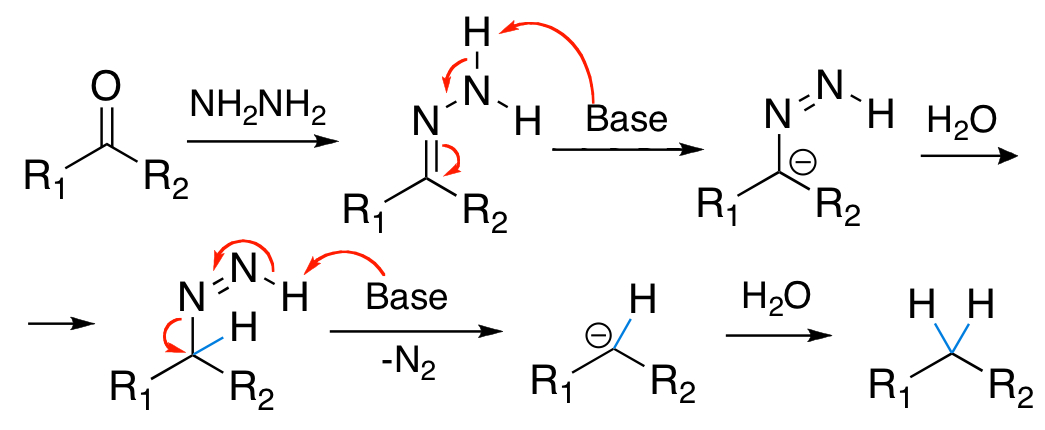 File:Reaction mechanism of Wolff-Kishner reduction.jpg ...