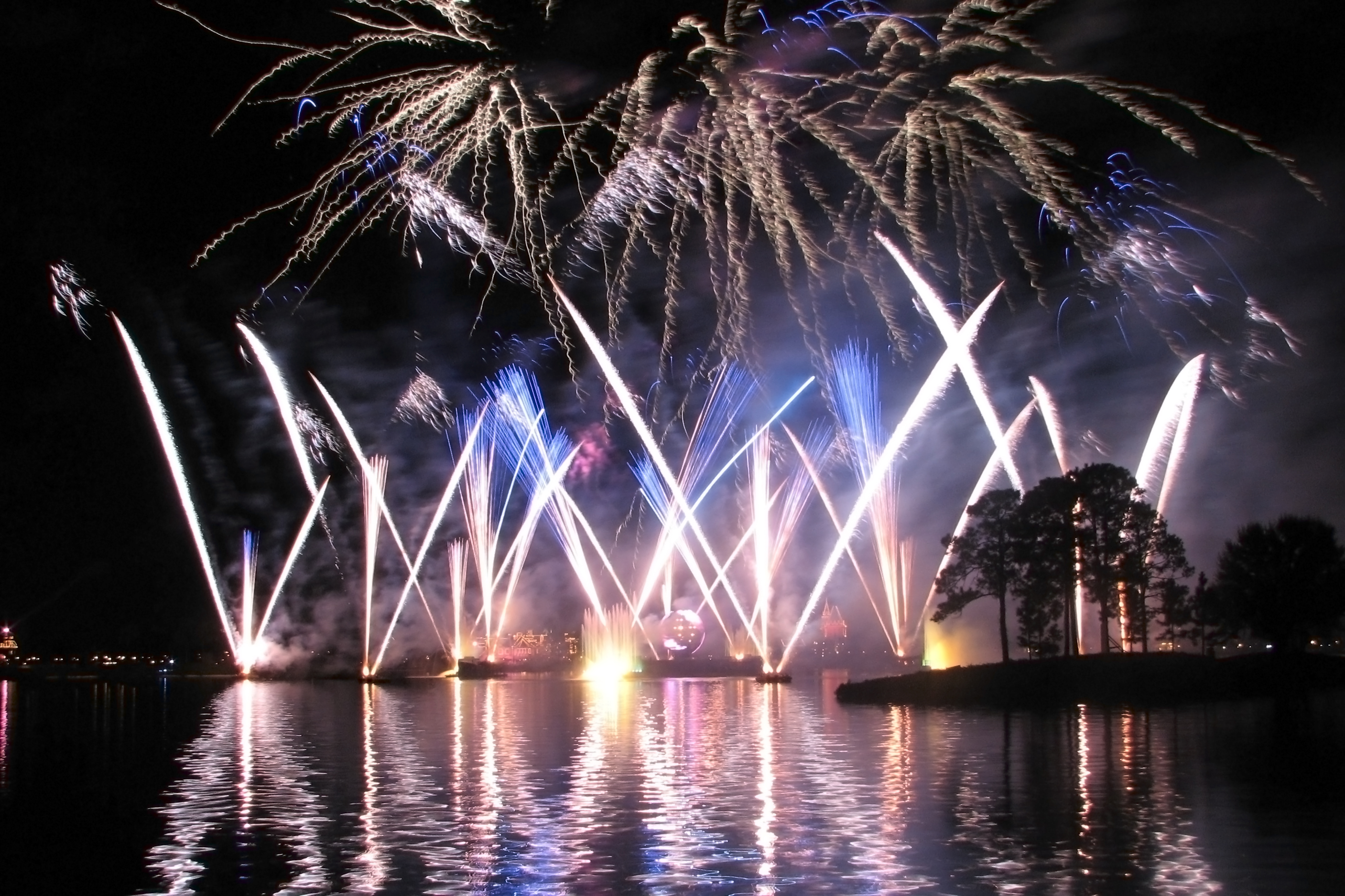 the world showcase lagoon during illuminations reflections of earth