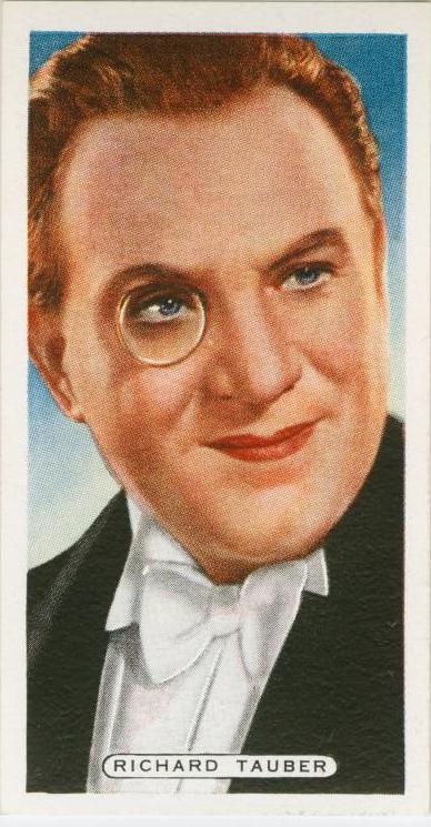 Richard tauber, cigarette card