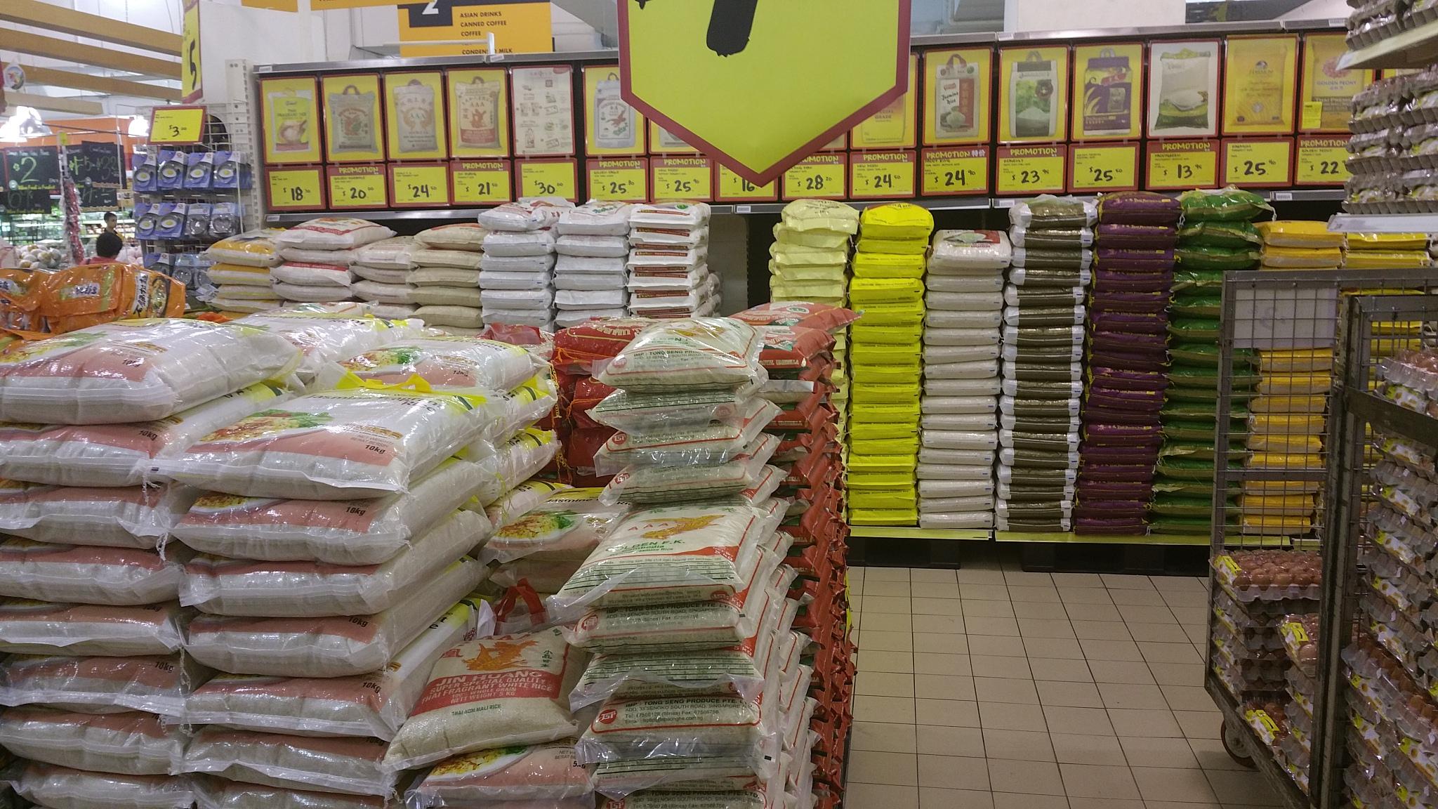 File Sg Bags Of Rice In Supermarket Jpg