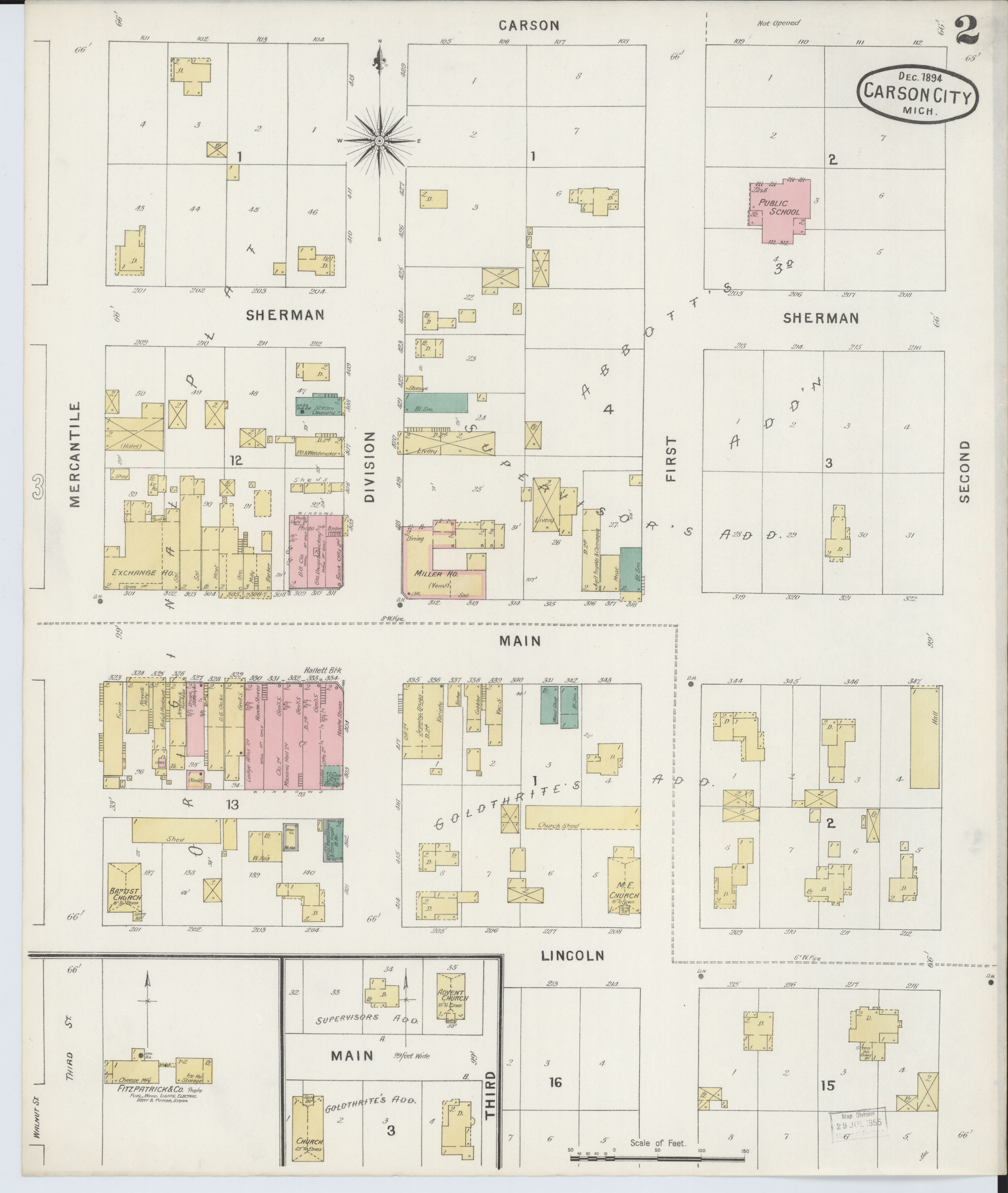 File Sanborn Fire Insurance Map From Carson City Montcalm County