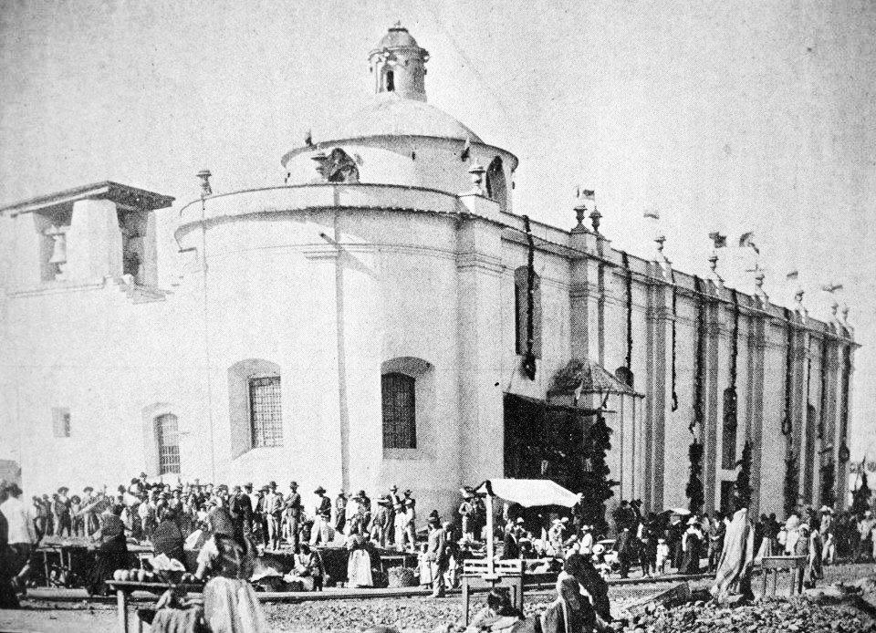 Santuario de Guadalupe en el Cantón Elena en el Centro Histórico de la Ciudad de Guatemala en 1911.