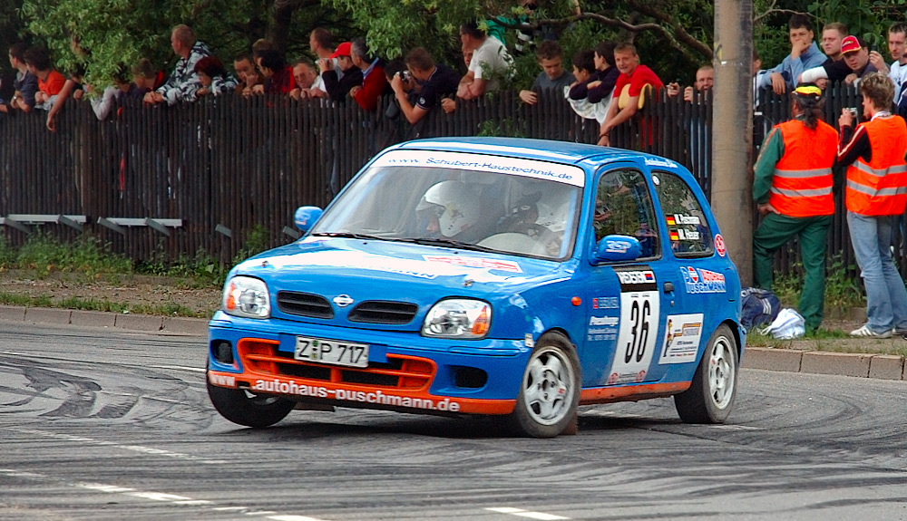A Micra K11C at the German Saxony Rally