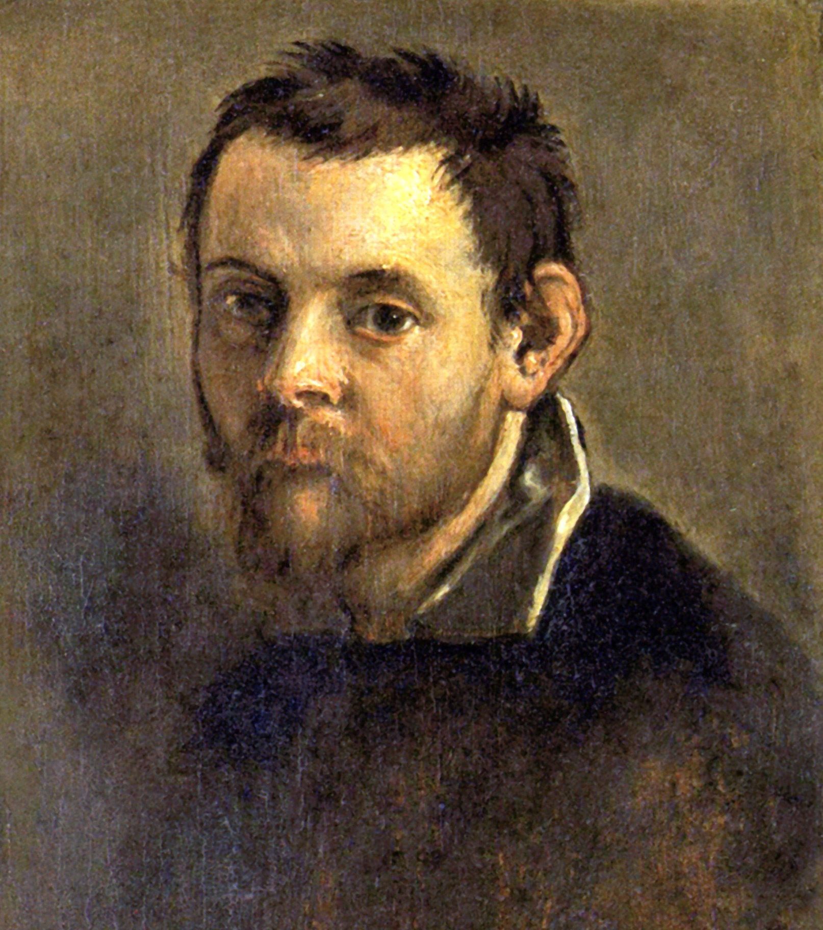 File:Self-portrait on an Easel in a Workshop by Annibale Carracci ...