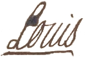 Signature of Louis XV in 1753 at the wedding of the Prince of Condé and Charlotte de Rohan.jpg