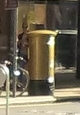Sophie Hosking's gold postbox in Worple Road, Wimbledon.jpg