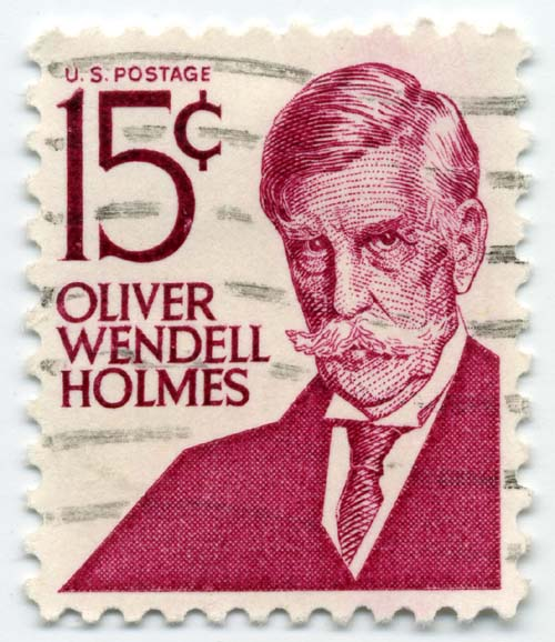 Oliver Wendell Holmes honoured on a 1968 U.S. postage stamp