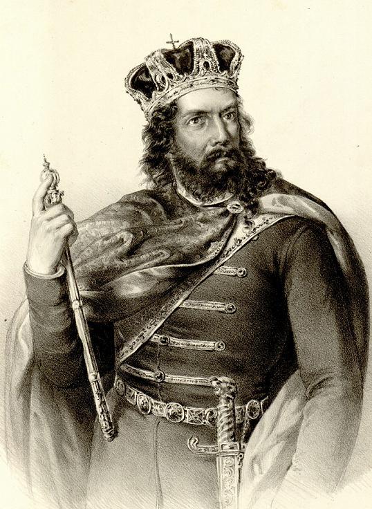 Anastas Jovanović (1817-99): Litografi av kong Stefan Prvovenčani